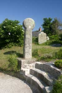 Round Headed Cross at Gerrans