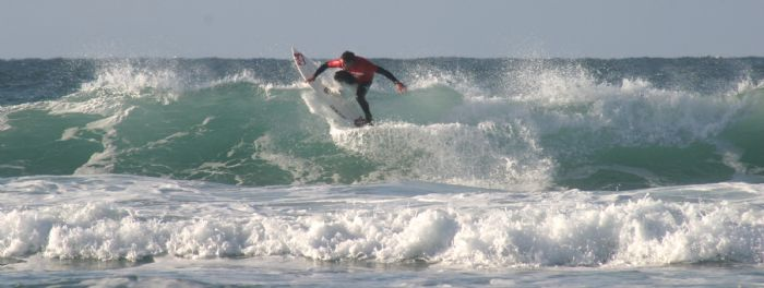 Surfing at Newquay Fistral