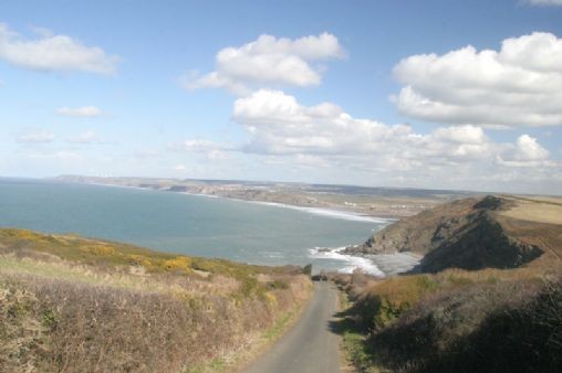 Coast road in North Cornwall