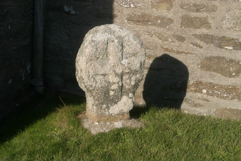 Round headed cross at Gunwalloe Parish Church