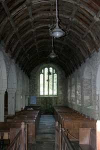 Interior of Mawgan in Meneage Church