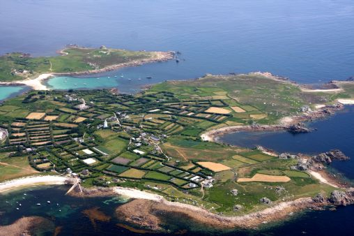 Gugh Is A Small Island Connected To The Larger Of St Agnes