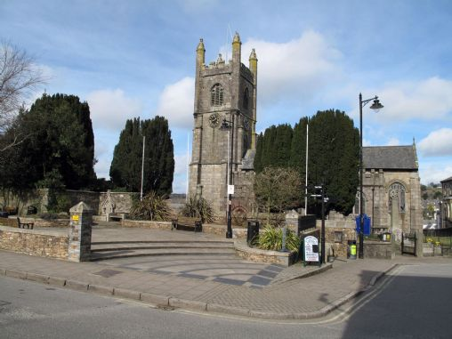 St Mary's Church in the centre of Callington