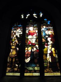 Stained glass window at St Mary's, Callington