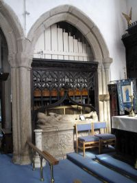 Ancient tomb in Callington Church