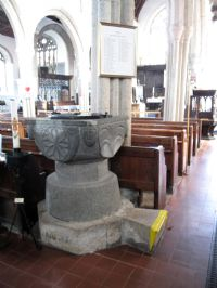 Font in Callington Church