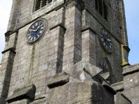 Sundial and tower of Callington Church