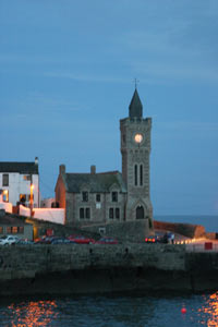 Porthleven Harbour at dusk