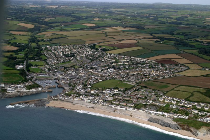 Porthleven from the air