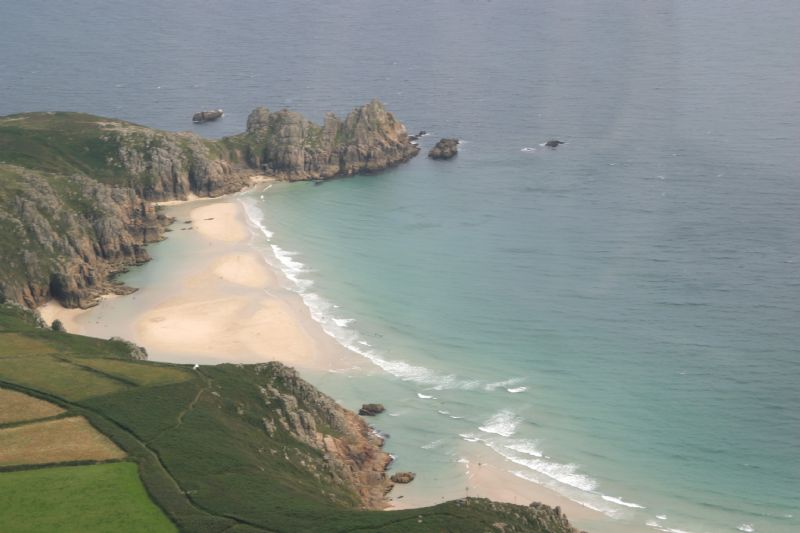 View from Porthcurno to Treryn Dinas