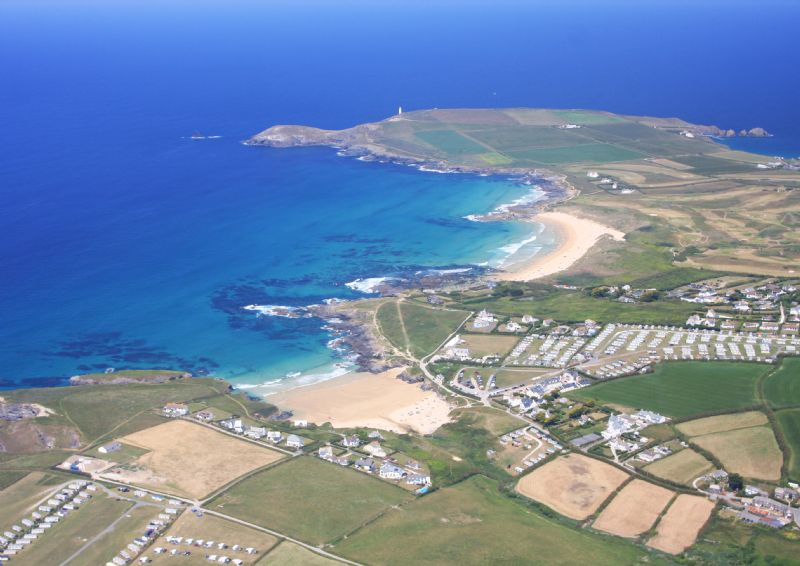 Booby's Bay in the background between Trevose Head and Constantine Bay