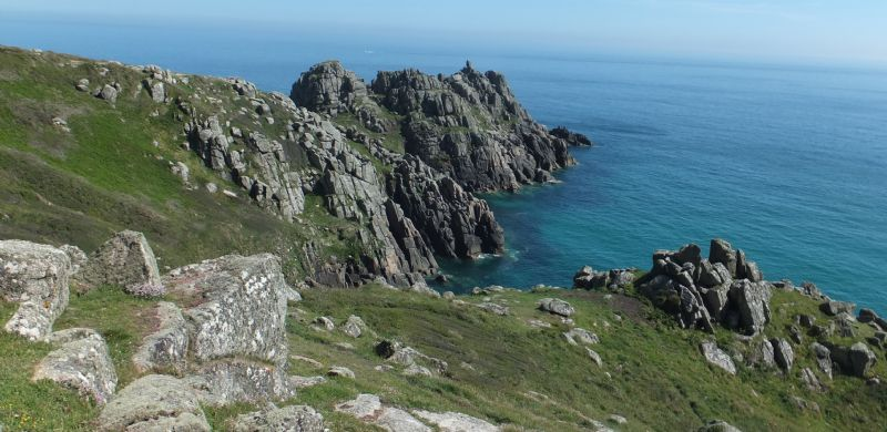 Treryn Dinas and the granite cliffs at Treen