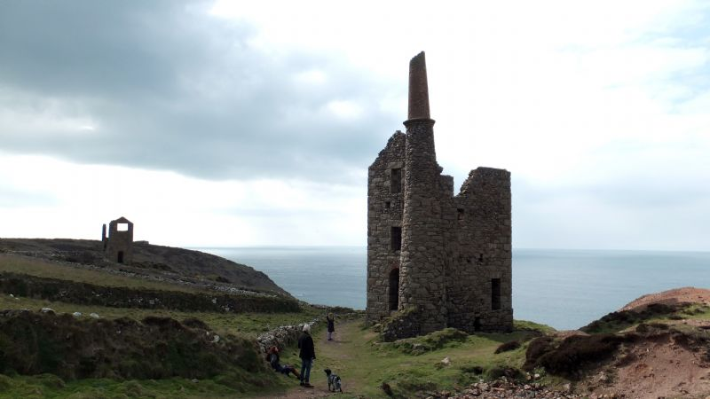 Visitors enjoying West Wheal Owles