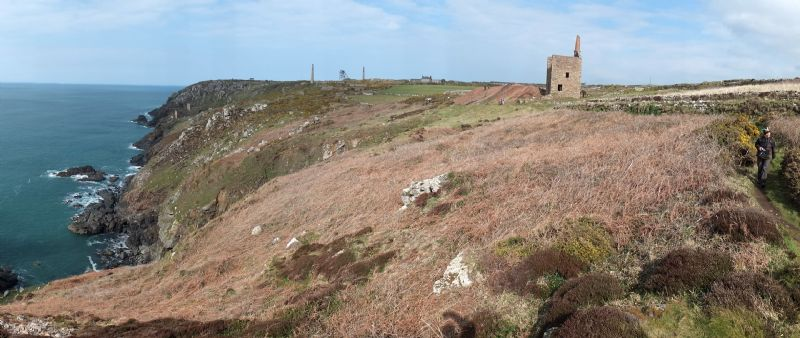 Botallack to Cape Cornwall - looking back at West Wheal Owles