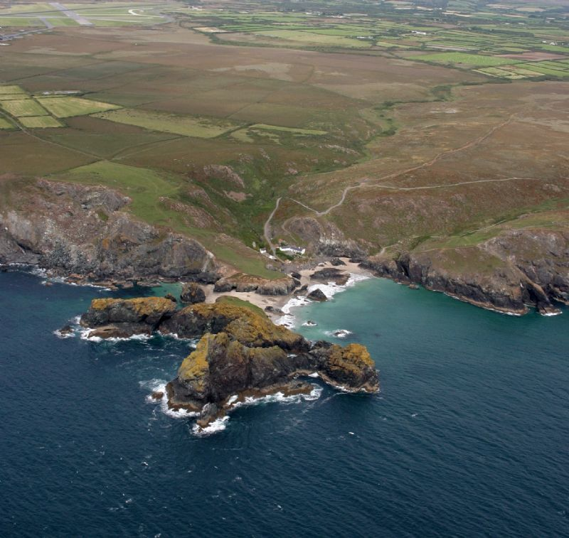 Kynance Cove from the air