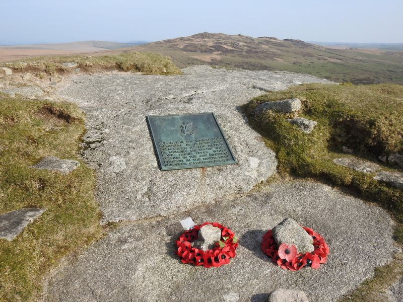 Memorial to 43rd Wessex Division on Rough Tor