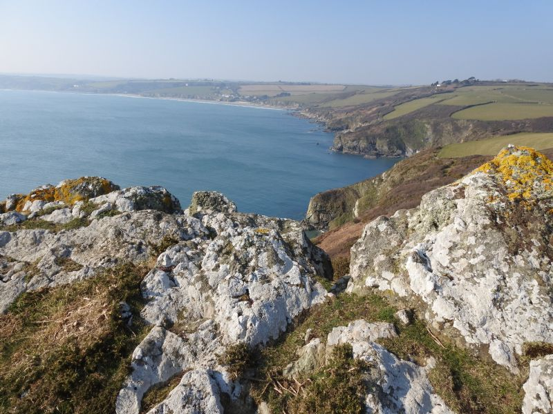 View from Nare Head towards Pendower and Carne Beaches