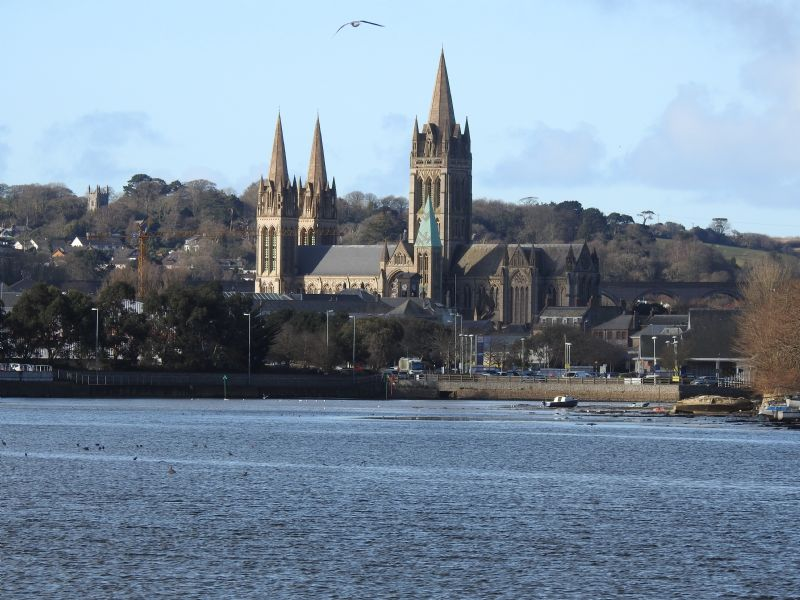 Truro Cathedral from the River