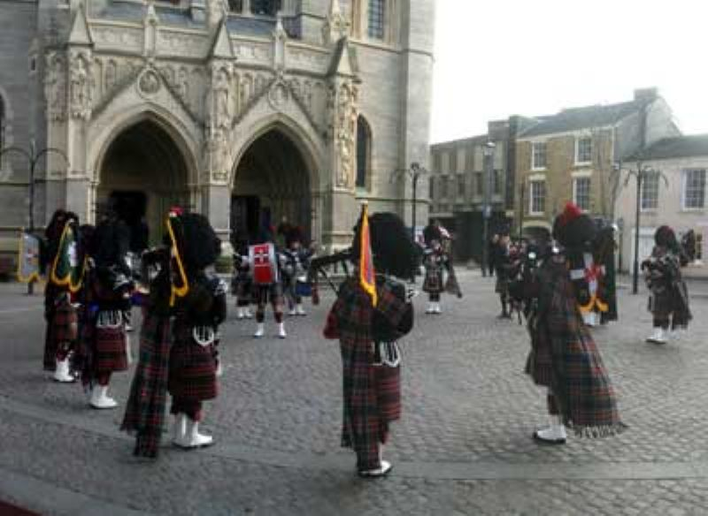 Cornish Pipers at High Cross