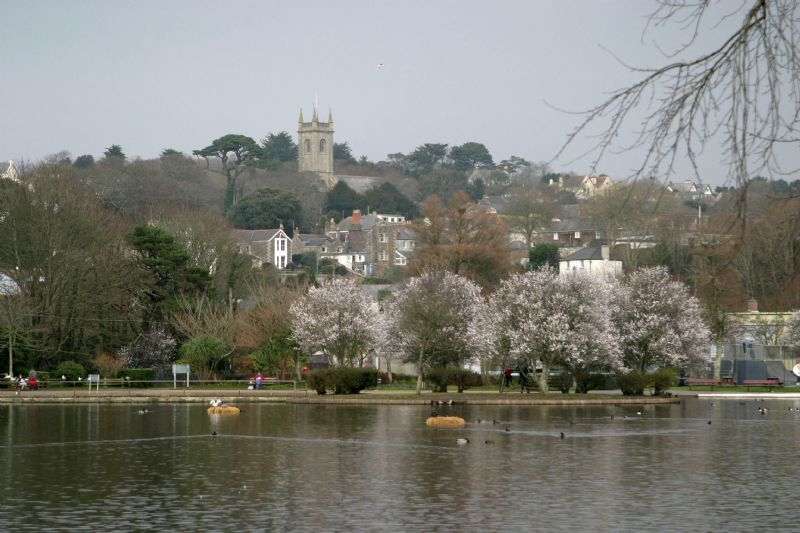 Helston from Coronation Lake