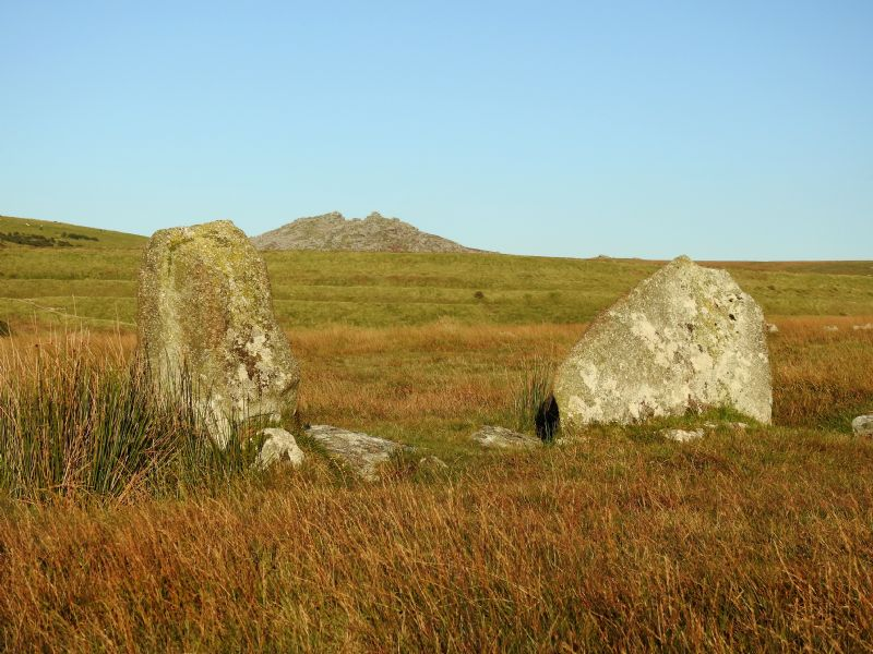 Stannon Circle with Rough Tor