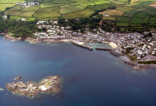 Mousehole and St Clement's Isle from the air