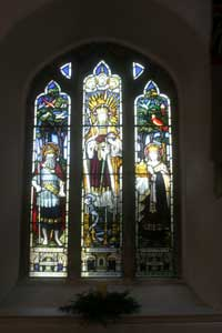 Stained glass window, St Just in Roseland Church