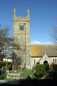Gwithian Church dedicated to St Gothian