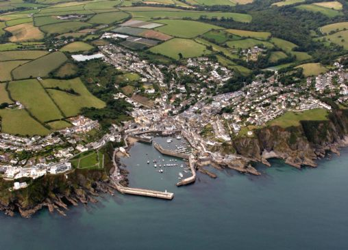 Mevagissey from the air