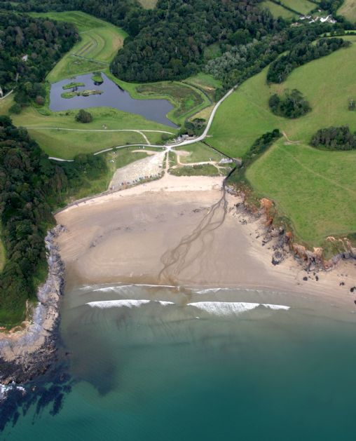 St Michael Caerhays Beach Information On Into Cornwall Guide