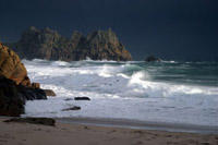 Winter Sea at Porthcurno