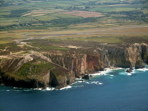 Cligga Head - aerial view
