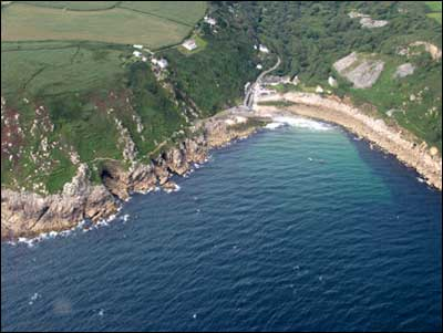 Lamorna Cove from the Air